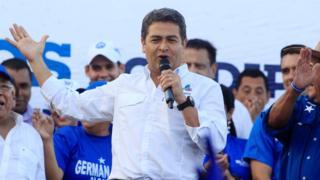 Juan Orlando Hernández en campaña.