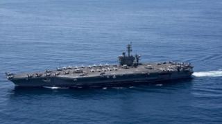 กองเรือโจมตี คาร์ล วินสัน ซ้อมรบร่วมกับกองทัพเรือญี่ปุ่นในน่านน้ำทะเลฟิลิปปินส์