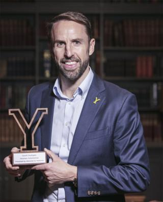 Gareth Southgate with award