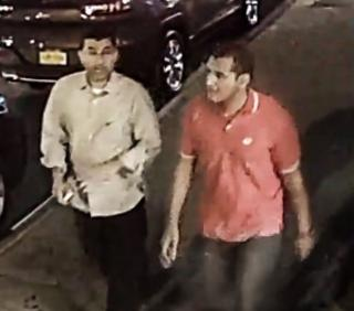 The FBI is seeking assistance in locating two unidentified men seen on surveillance footage taking a suitcase that contained an explosive device and leaving the device behind.