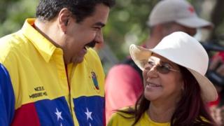 Nicolas Maduro and Cilia Flores, 3 Dec 15