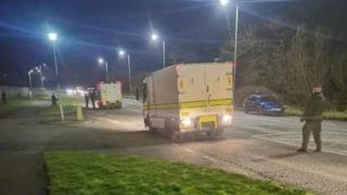 The device was uncovered attached to a lorry on Monday