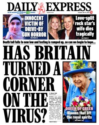 The Daily Express front page 19/05/20