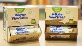 Technology Nestle Milkybar Wowsomes chocolate bars.