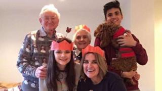 Katie Scott with her family at Christmas