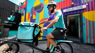 Technology Deliveroo rider