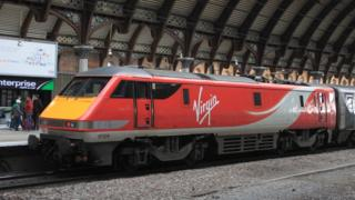 Virgin train at York station