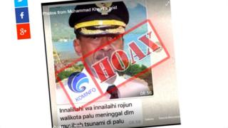 Indonesian government press statement denying Palu's mayor had been killed