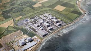 Artist's impression of Hinkley C
