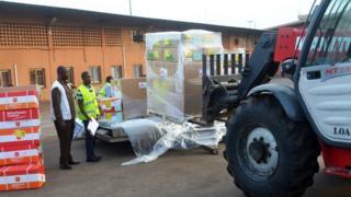 Le hangar de l'aéroport de Conakry, au moment de la lutte contre Ebola (illustration).