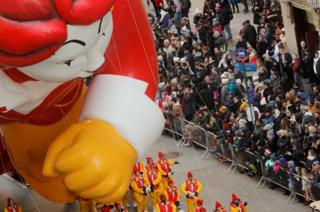 Ronald McDonald balloon at the Macy's Parade