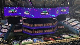 World Cup stage in NY
