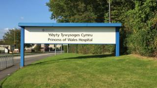 Sign outside the Princess of Wales Hospital