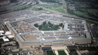 Aerial sight of the US navy headquarters, the Pentagon