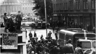 радянсьеі танки в Чехословаччині