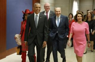 Obama akiwasili kuhudhuria mikutano majengo ya bunge Capitol Hill