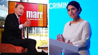 Andrew Marr and Priti Patel