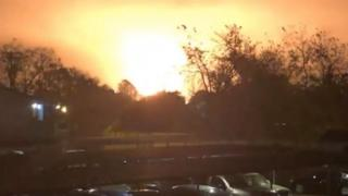 An explosion at a chemical blast in Texas