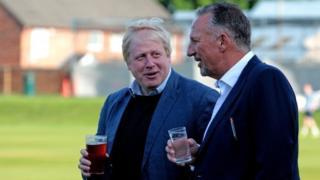 Boris Johnson and Sir Ian Botham