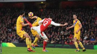 Olivier Giroud alifunga dhidi ya Crystal Palace
