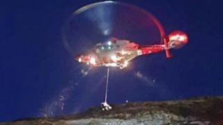 North Berwick Law airlift