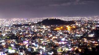बिजुली बलेको राजधानी सहर