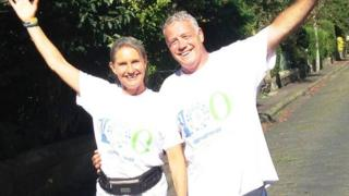 Jenny and Scott Hastings are taking part in the 100 Streets Challenge