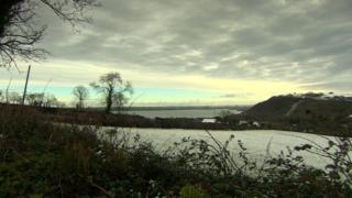 The view from the farmhouse over Larne Lough