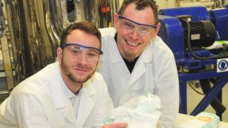 Joe Freemantle (left) and Dr Gordon Allison