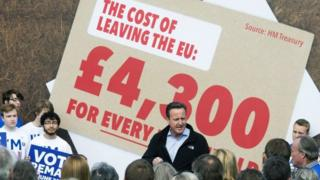 David Cameron speaking at referendum campaign event