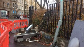 Hope Park Terrace crash site