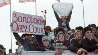 Аскерлерди тосуп алуу, Термез 1989-жылдын 16-февралы.
