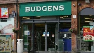 A Budgens store - not clear where