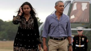 Barack və Sasha Obama