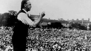 Arthur James Cook addressing a crowd