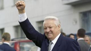 Борис Ельцин в предвыборной поездке в Башкирию 29 мая 1996 г.