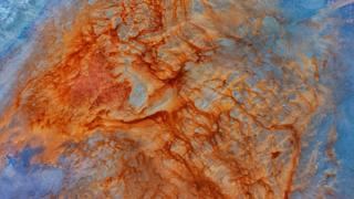 Aerial photo of Lake Eyre