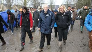 Jeremy Corbyn visits the Grand Synthe camp in northern France
