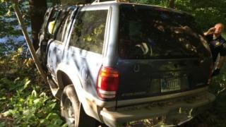 Handout image shows the 1999 Ford Explorer in which Kevin Bell and Nikki R Reed crashed in Indiana.