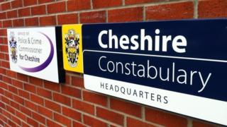 Cheshire Police sign