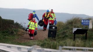 Major incident at Ballycastle beach