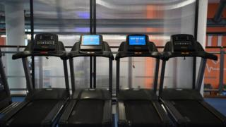 Out of use equipment at the Gym Group in Vauxhall, London