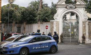 Italian authorities have investigated the remains found at the Apostolic Nunciatur in Rome Via Po