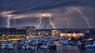 thunderstorm in Eastbourne