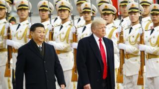 Presidents Xi Jinping and Donald Trump