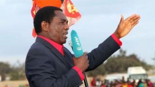 Hogaamiyaha mucaaradaka ee Zambia Hakainde Hichilema