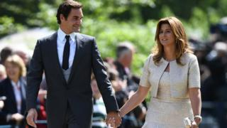 Roger Federer and his wife Mirka