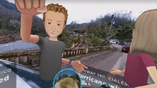 Mark Zuckerberg in VR in Puerto Rico