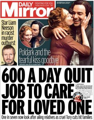 Daily Mirror front page, 5/2/19