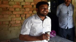 Kanhaiya Kumar CPI Candidate for Begusarai Lok Sabha seat meets with people in rural area on April 2, 2019 in Begusarai, India.